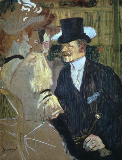 Toulouse-Lautrec, L'Anglais au Moulin Rouge