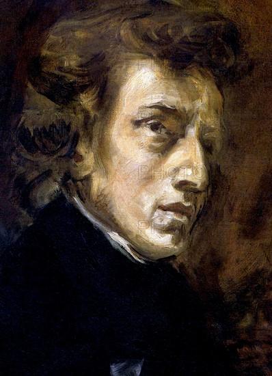 Delacroix, Portrait de Frédéric Chopin (détail)