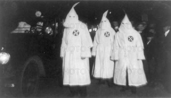 Three Ku Klux Klan members