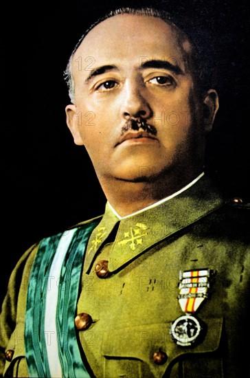 Portrait du général Francisco Franco en 1937