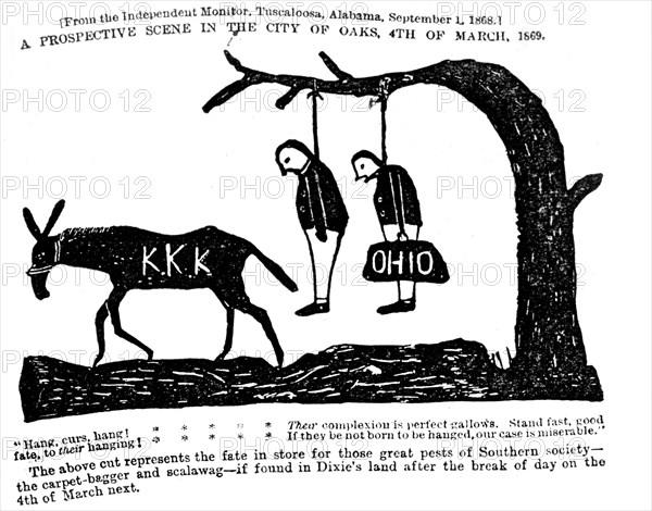 Ce qui se passera à Oaks, le 4 mars prochain. Ku Klux Klan