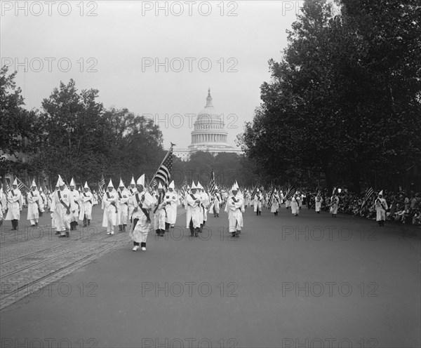Ku Klux Klan Parade, Washington DC, USA, National Photo Company, September 1926