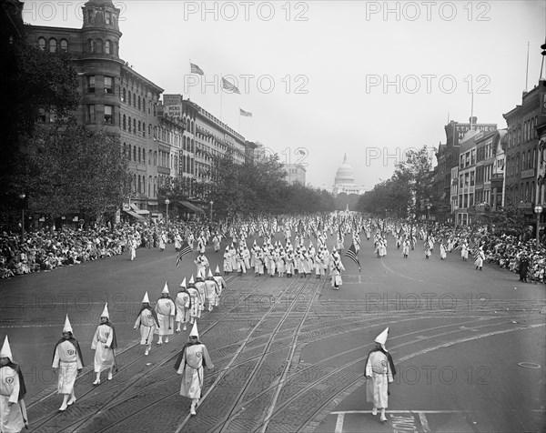 Ku Klux Klan Marching in Washington, September 1926