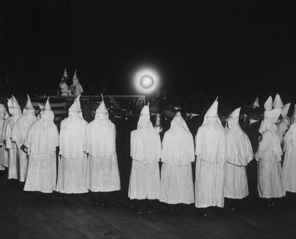 Ku Klux Klan Meeting, New York, USA circa 1924