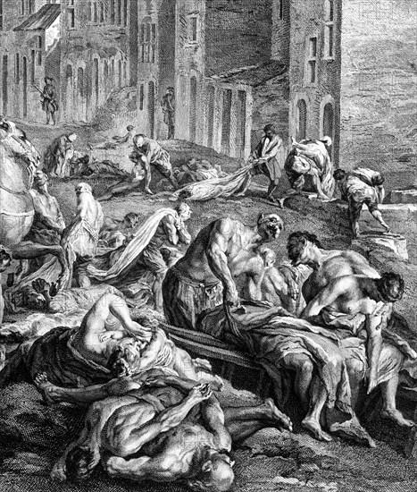 1720. La Grande Peste à Marseille. Plan rapproché.