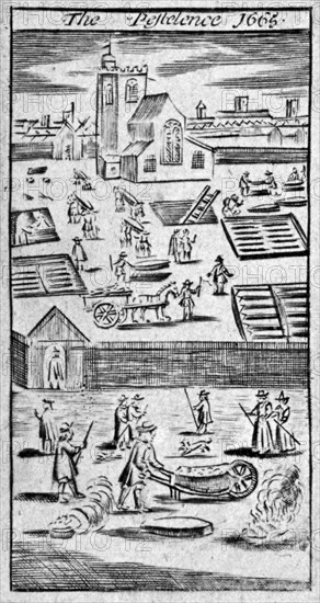 'The Pestelence 1665', 1665. Artist: Anon