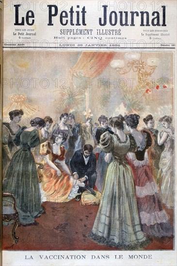 Vaccination against smallpox, Paris, 1894. Artist: Oswaldo Tofani