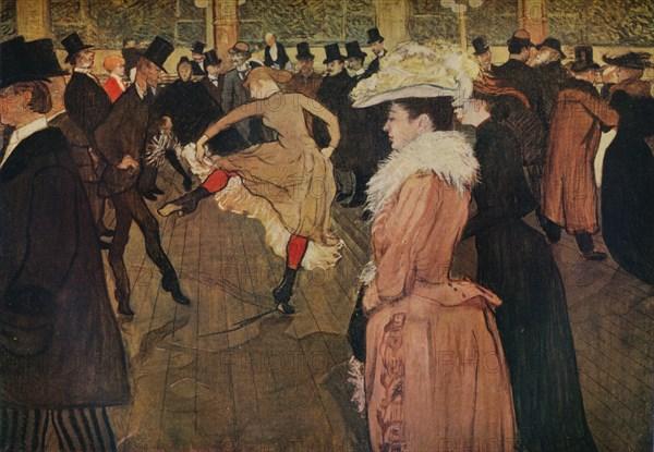 'At the Moulin Rouge, the Dance', 1890 (1934). Artist: Henri de Toulouse-Lautrec.