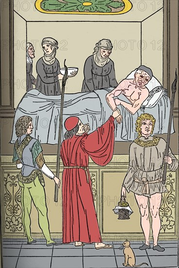 'Ketham: Fasciculus Medicinae, Venice, 1493, The Treatment Of The Plauge', c1493. Artist: Unknown.