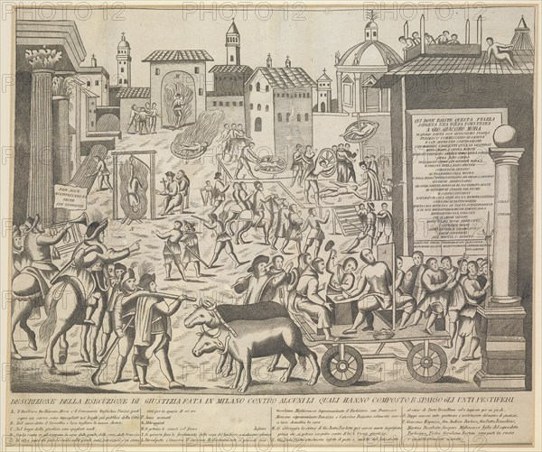 Great Plague of Milan, 1630, ca 1835. Artist: Anonymous