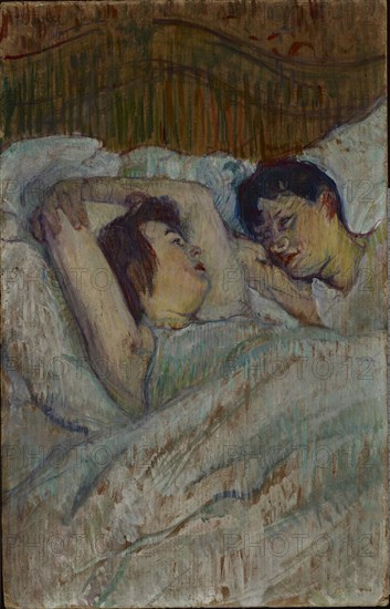 Au lit, 1892.