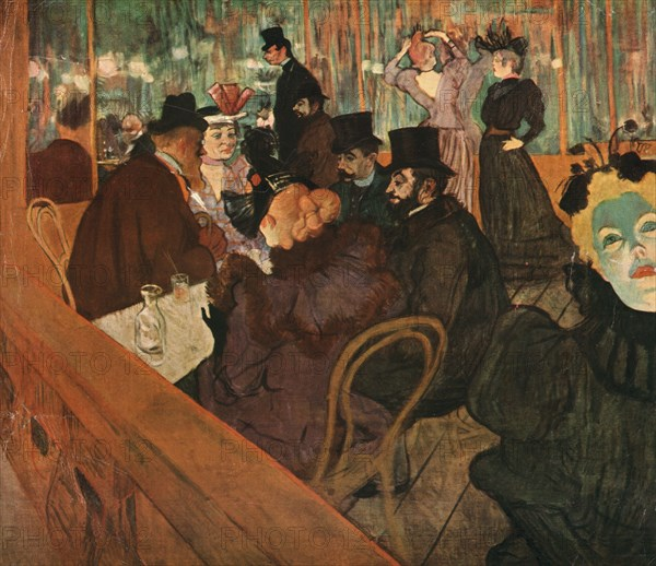 'At the Moulin Rouge', 1892, (1952). Creator: Henri de Toulouse-Lautrec.