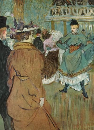 'Quadrille at the Moulin Rouge', 1892, (1952).  Creator: Henri de Toulouse-Lautrec.