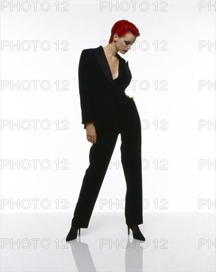 Sibyl Buck en tenue Yves Saint-Laurent