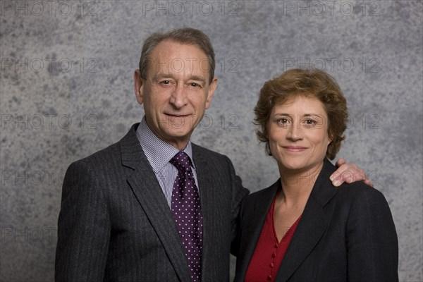 Bertrand Delanoë et Annick Lepetit