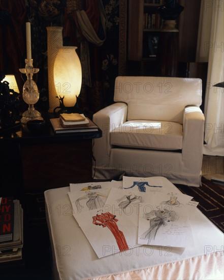 Yves Saint-Laurent, intérieur de son appartement