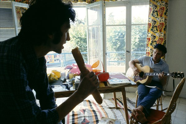 Johnny Hallyday avec Long Chris
