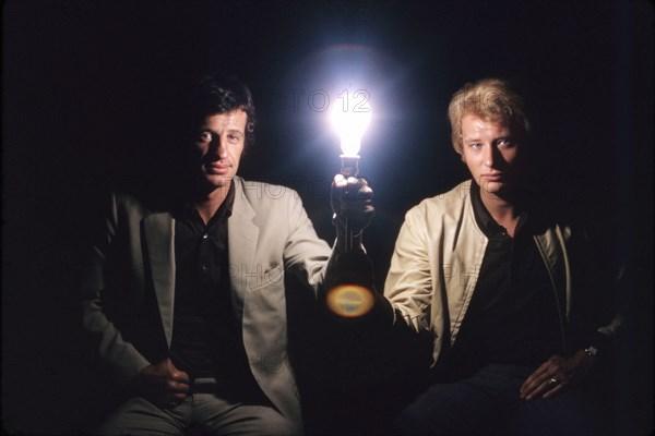 Johnny Hallyday et Jean-Paul Belmondo