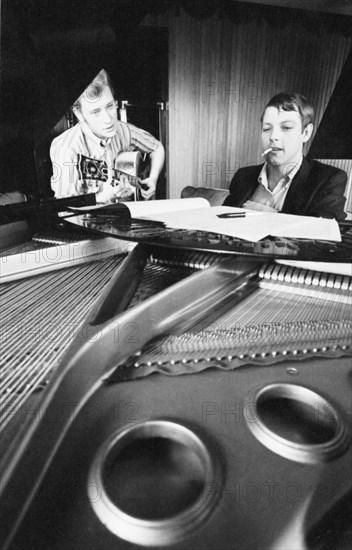 Johnny Hallyday et Eddie Vartan