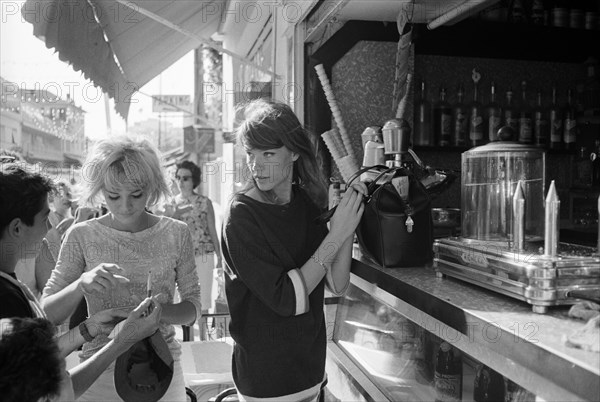 Sylvie Vartan et Françoise Hardy, 1963