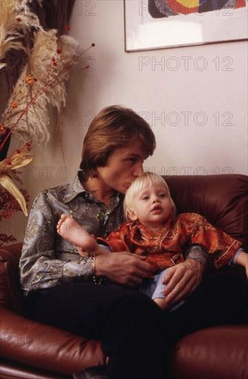 Claude François et son fils Claude François Junior, 1970