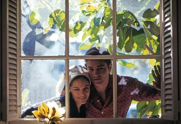 Alain Delon et sa femme Nathalie