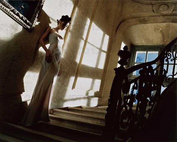 Olga Pantushenkova en John Galliano pour Dior
