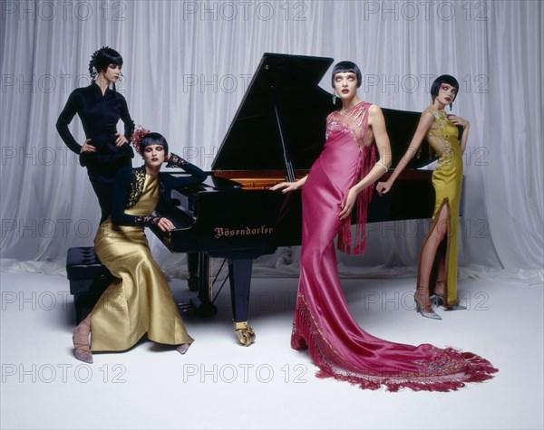 Mannequins en Christian Dior par John Galliano