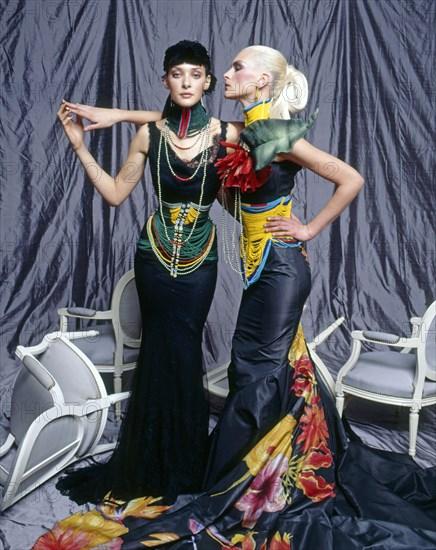 Chrystèle Saint-Louis Augustin et Kim Iglinsky en Christian Dior Haute Couture