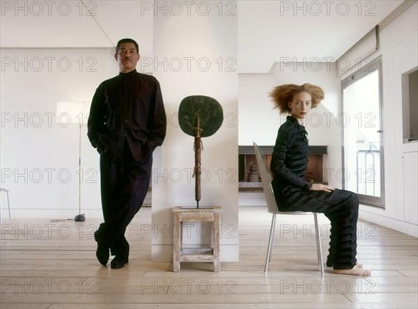 Issey Miyake et Chrystèle Saint-Louis Augustin