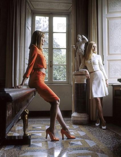 Carla Bruni et Karen Mulder