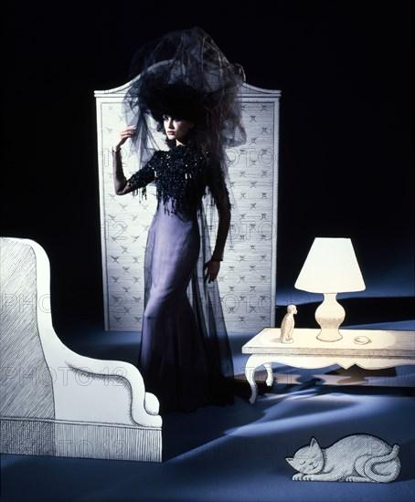 Natalia Semanova en Chanel par Karl Lagerfeld