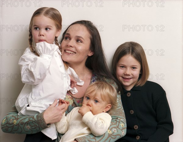 Christine Bastin et ses enfants