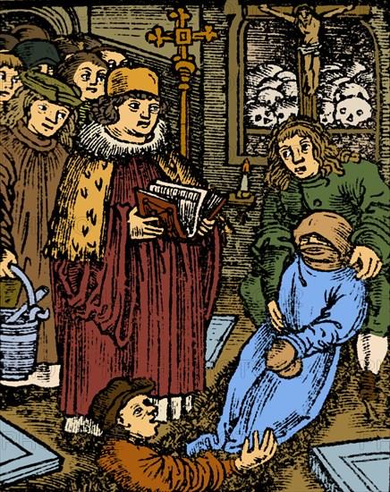 Black Death Plague Victim, Medieval Funeral