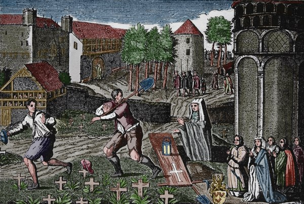 Ghost cotillion of the souls of Black Death victims