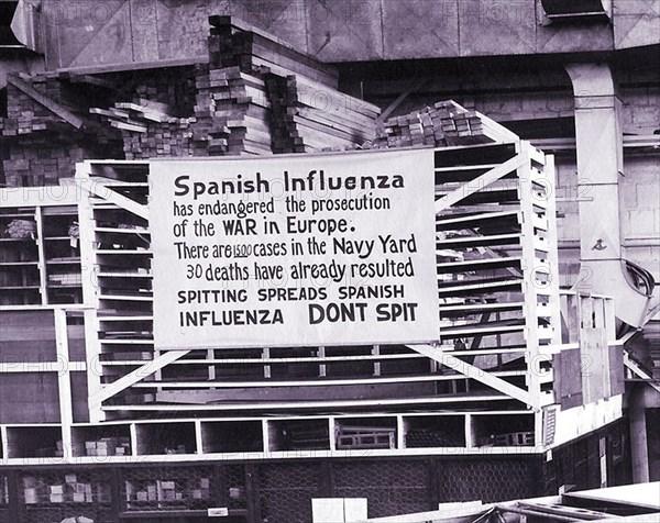 Peak of the flu pandemic in 1918
