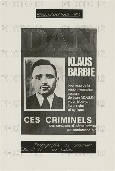 Dossier de photographies soumises aux témoins du procès Barbie, portrait de Klaus Barbie.
