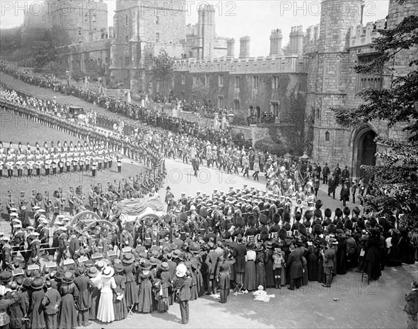 Le cortège funèbre du roi Edward VII