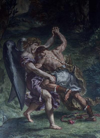 Delacroix, Lutte de Jacob avec l'Ange (détail)