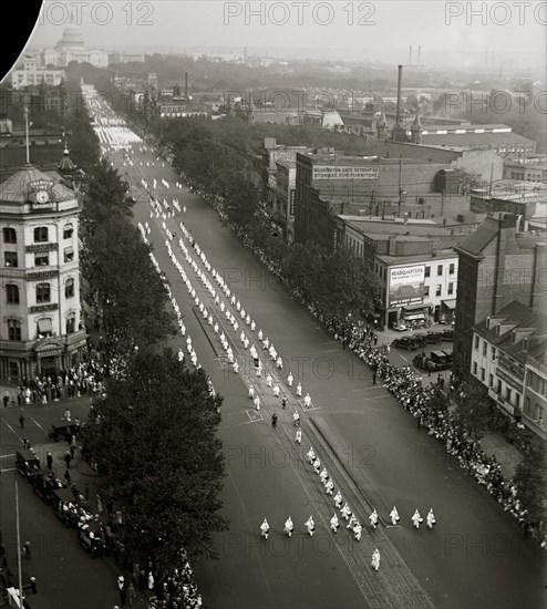 Ku Klux Klan parade, DC 1926
